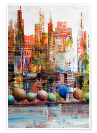 Premium poster Manhattan, abstract