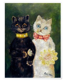 Poster  Cats Wedding - Louis Wain