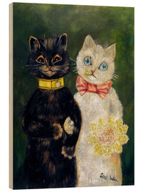 Wood  Cats Wedding - Louis Wain