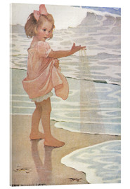Acrylic print  Little drops of water - Jessie Willcox Smith