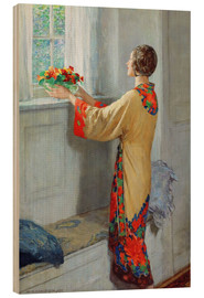 Wood print  New day - William Henry Margetson