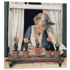 Forex  Potting tulips - Jessie Willcox Smith
