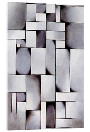 Acrylic print  Composition in grey (Rag-time) - Theo van Doesburg