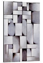 Aluminium print  Composition in grey (Rag-time) - Theo van Doesburg