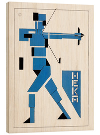 Wood print  Archer - Theo van Doesburg