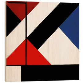 Wood print  simultaneous counter composition - Theo van Doesburg