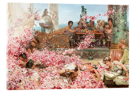Acrylic print  The Roses of Heliogabalus - Lawrence Alma-Tadema