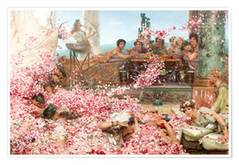Premium poster  The Roses of Heliogabalus - Lawrence Alma-Tadema