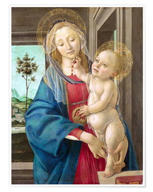 Premium poster  Madonna with Pomegranate - Sandro Botticelli
