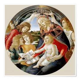 Premium poster  Madonna of the Magnificat - Sandro Botticelli