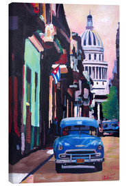 Canvas print  Cuban Oldtimer Street Scene in Havanna Cuba with Buena Vista Feeling - M. Bleichner