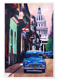 M. Bleichner - Cuban Oldtimer Street Scene in Havanna Cuba with Buena Vista Feeling