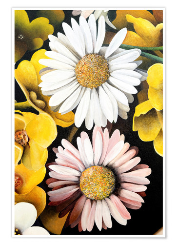 Poster White oxeye daisy flower