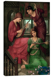 Canvas print  In the golden days - John Melhuish Strudwick