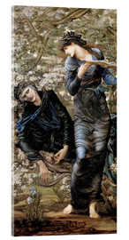 Acrylic print  Beguiling of Merlin - Edward Burne-Jones