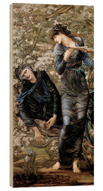 Wood print  Beguiling of Merlin - Edward Burne-Jones