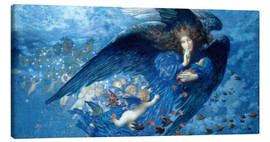 Canvas print  Night with her train of stars - Edward Robert Hughes