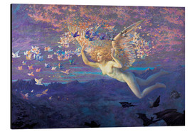 Aluminium print  Wings of the Morning - Edward Robert Hughes