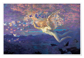 Premium poster  Wings of the Morning - Edward Robert Hughes