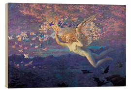 Wood print  Wings of the Morning - Edward Robert Hughes
