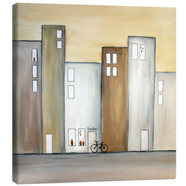 Canvas  Little Shop in the street - Tina Melz