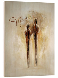 Wood print  Two of us - Tina Melz