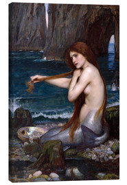 Canvas  The mermaid - John William Waterhouse