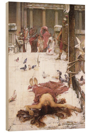 Wood print  Saint Eulalia - John William Waterhouse