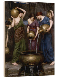 Wood print  Danaïdes - John William Waterhouse