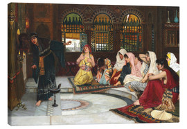 Canvas  Consulting The Oracle - John William Waterhouse