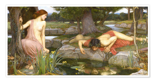 Premium poster Echo and Narcissus