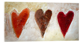 Acrylic glass  3 hearts - Tina Melz