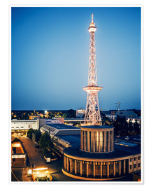 Premium poster Berlin - Funkturm Radio Tower