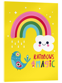 Acrylic glass  Rainbows and magic - Kat Kalindi Cameron