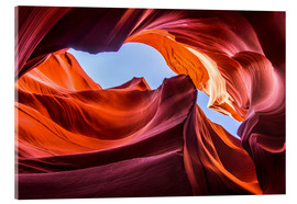 Acrylic glass  Colorful sandstone formations at Lower Antelope Canyon - Andreas Wonisch