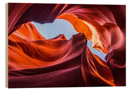 Wood  Colorful sandstone formations at Lower Antelope Canyon - Andreas Wonisch