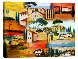Canvas print  Tuscany Collage - Christine Huwer