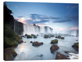 Canvas  Dramatic sunset over Iguacu waterfalls - Alex Saberi