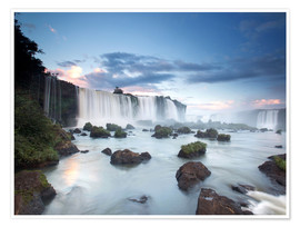Premium poster  Dramatic sunset over Iguacu waterfalls - Alex Saberi