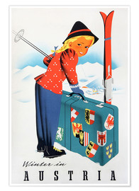Premium poster  Winter in Austria - Travel Collection
