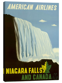 Canvas print  American Airlines Niagara Falls and Canada - Travel Collection