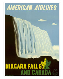 Premium poster  American Airlines Niagara Falls and Canada - Travel Collection