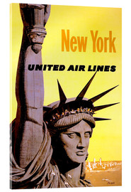 Acrylic print  New York United Air Lines - Travel Collection