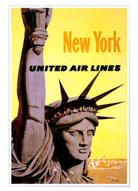 Premium poster  New York United Air Lines - Travel Collection