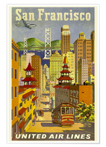 San Francisco United Airlines Poster Posterlounge