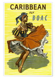 Premium poster Caribbean Fly BOAC