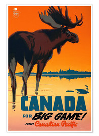 Poster  Canada travel for big game
