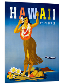 Foam board print  Hawaii by Clipper vintage travel - Travel Collection