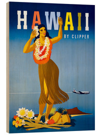 Wood  Hawaii by Clipper vintage travel