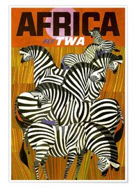 Premium poster  Africa Fly TWA